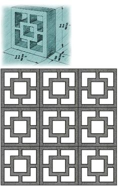 Mid Century Decorative Concrete Screen Block http://gateforless.com/product-category/fence/block-wall/