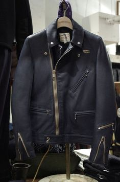 Lewis Leathers & Real Mccoy's CYCLONE deer skin leather jacket