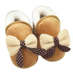 Newborn Infant Bow Snow Shoes
