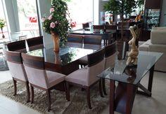 Sala de Jantar Completa Rudnick, foto tirada em nossa loja fisica. Isso e muito mais você encontra em nosso site, confira! #móveis #decoração #sala #saladejantar