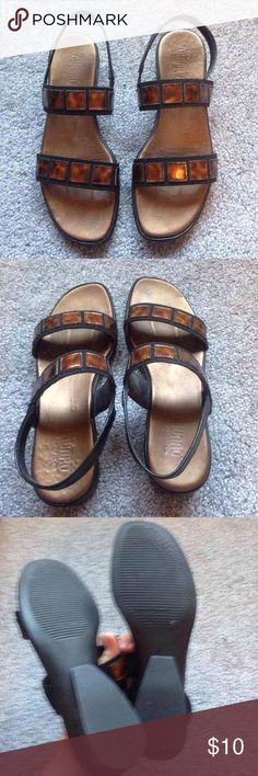 Munro Sandals Size 7.5 Munro American slip on sandals. Only worn a few times.   Price negotiable, look at other listings! munro Shoes Sandals