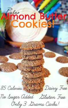 85 Calorie Paleo Almond Butter Cookies with Only 3 Grams of Carbs! + Kelapo Coconut Oil Giveaway