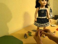 """How to Make American Girl Doll  18""""  Doll Sandals By Scoresheet1 on youtube. She has over 100 videos dedicated to how to make doll shoes, clothes and more. Free patterns when requested."""