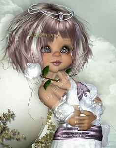 ╰⊰✿GS✿⊱╮ Little Girl Pictures, Cute Little Girls, Pretty Pictures, Betty Boo, Cartoon Girl Images, Elf Art, Fairy Figurines, Baby Fairy, Doll Painting