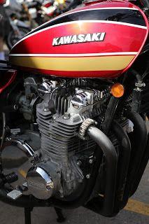 OldMotoDude: 1975 Kawasaki Z1 900 on display at the 2018 Classic Bike Show -- Lakewood, Co.