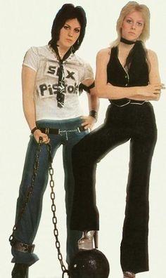 Joan Jett & Cherie Curie of The Runaways