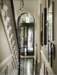 love this entry way hallway