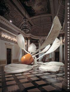 Soft Shuttlecock- Claes Oldenburg and Coosje van Bruggen. e-size, form, colour, shape. p- value, unity, balance, symmetry
