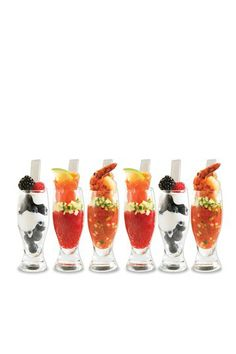Why not use my pilsner glasses like these  that are shown with all the yummy foodstuffs and inviting colors?