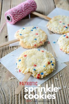 Sprinkle Cookies aren't only adorable, but they're super yummy too, and kids LOVE them! Perfect for holidays, birthdays, and more--they're sure to be a hit!
