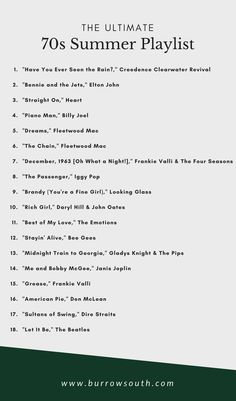 Songs to Jam to A playlist of classic hits perfect for a summer road trip. Road Trip Playlist, Summer Playlist, Song Playlist, Summer Songs, Road Trip Songs, Road Trip Music, Summer Quotes, Summer Fun, 70s Music