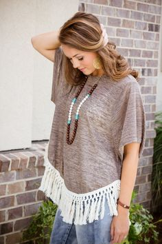 Made To Stand Out Top - Mocha  $29 Under $35 tab has lots of great looks at great prices! #shopwalkerboutique