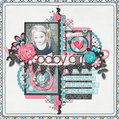 NikkiARNGwife's Gallery with Layouts, Projects and Photos. Baby Girl Scrapbook, Baby Scrapbook Pages, Scrapbook Page Layouts, Dyi Crafts, Paper Crafts, Scrapbook Supplies, Scrapbooking Ideas, Baby Album, 6 Photos
