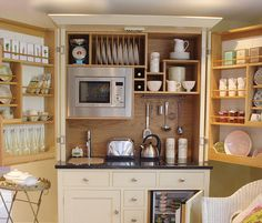 Click Pic for 40+ Small Apartment Ideas | Fold away kitchenette for small apartment | Studio Apartment Decorating Ideas