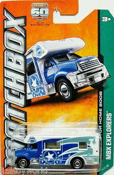 Matchbox Motorhome 2013 MBX Explorer Series #54/120 Blue & White Color