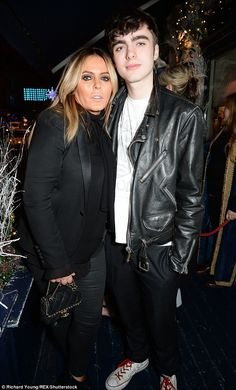 Patsy Kensit made a rare public appearance with their son Lennon Gallagher, at the LOVE magazine bash, held at George in London on Friday night. Gene Gallagher, Lennon Gallagher, Liam Gallagher Oasis, Chris Evans, Beautiful Boys, Beautiful People, British Clothing, Heather Locklear, Love Magazine
