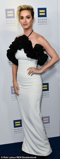 White hot! The Roar hit-maker showcased her phenomenal physique and svelte figure in the skintight number