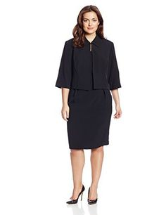 Dana Kay Womens Plus-Size Collared Jacket Sheath Dress Set:  http://www.beautychatters.com/women-dresses-with-80-discount/