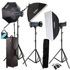 Godox  3QS600 600Ws pro photography Studio Strobe Flash Light Kit For Wedding