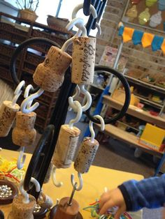 Corks with hooks attached, photo by user.