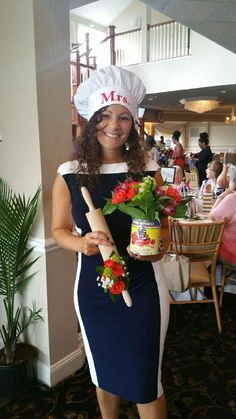 Italian style cooking themed bridal shower