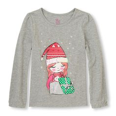 Long Sleeve Festive Graphic Top