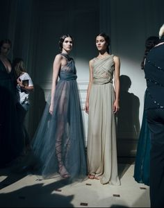 Parties — Valentino Couture Fall 2014 Backstage