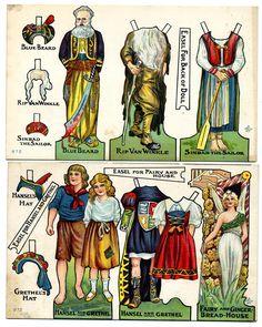 https://flic.kr/p/6rTgUX | 1912dolls3 | More chromolith postcard paper dolls from 1912