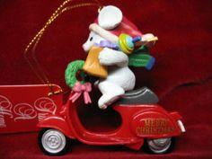 Vespa Christmas Ornament, Mouse riding a Small Frame Vespa, New, Lambretta | eBay