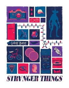 Stranger Things Art Print Iconic Poster Design by jefflangevin