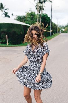 e6a76030a755 Twirling in a pretty casual floral dress Collage Vintage
