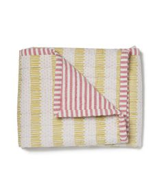 Pehr Yellow and Pink Quilted Nursery Blanket