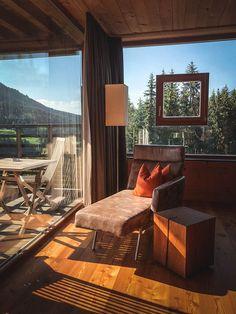 Holzhotel FORSTHOFALM | Leogang - Salzburger Land - marmelis | die Tirolerin Boutique Hotels, Wellness Spa, Best Interior, Outdoor Furniture, Outdoor Decor, Bed, Places, House, Inspiration