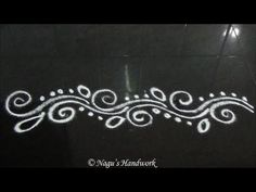 Simple Border Rangoli Design-Border Design By Nagu's Handwork