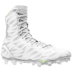 all white under armour highlight cleats