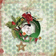 Joyeux Noel is a traditional Christmas kit, classic, softly vintage and classy. Colors are traditional : Red, green, and gold. You will love tartan papers and those lovely and unique Santa's visiting cards. No matter that you're scrapping black and white or color photos, glowing colors of this collection will enhance any type of photos.