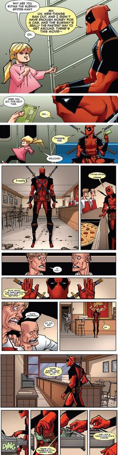 The more I learn about Deadpool...the more I love him. Amazing art! Wanna draw like that! Just, how do you make the pen and ink work black? I mean, every time I scan my inked stuff in, it comes in gray and brownish. So, how do you make the ink work black without darkening the paper?