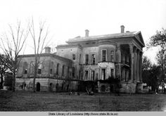 Side view of Belle Grove Plantation, Iberville Parish, Louisiana Old Mansions, Abandoned Mansions, Abandoned Buildings, Abandoned Places, Abandoned Property, Abandoned Plantations, Louisiana Plantations, Louisiana Homes, White Castle Louisiana