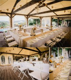 Chateau de Brametourte wedding reception dinner tables in a marquee in the gardens by Wild Connections Photography French Wedding, Dinner Table, Wedding Reception, Destination Wedding, Tables, Anna, Wedding Inspiration, Gardens, Table Decorations