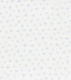 Nursery Fabric- Blue Stars Swaddle Cloth