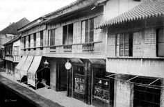 Manila Main Street, Philippines, 1898 or before Filipino Architecture, Philippine Architecture, Colonial Architecture, Philippines Culture, Manila Philippines, Filipino House, Uk Visa, Mindanao, Spanish Colonial