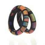 Banded Polymer Bangles by 2Roses Jewelry
