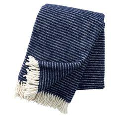 Eco-lamswollen deken Ralph - blauw