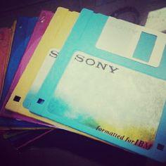 Kolorowe dyskietki Sony