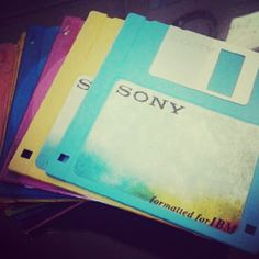 Colorful floppies - I still have tons of photos on these things!