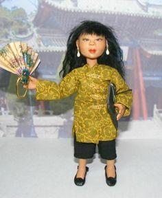 Ooak Miniature Asian Woman Dollhouse Doll Artist Original One of a Kind by Rogue Fairy