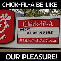 chick fil a our pleasure meme