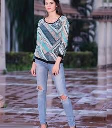 Buy multicolor Georgette printed Top party-top online