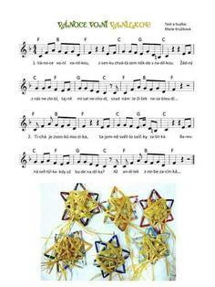 Vánoce voní vanilkou Advent, Sheet Music, Kindergarten, Songs, Christmas, Preschool Winter, Manualidades, Xmas, Kindergartens