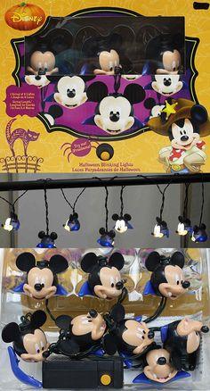 Halloween Vampire Mickey Mouse String Lights.  Disney Mickey Halloween Party decorating fun!